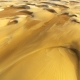 Aerial of sand dunes, Chad