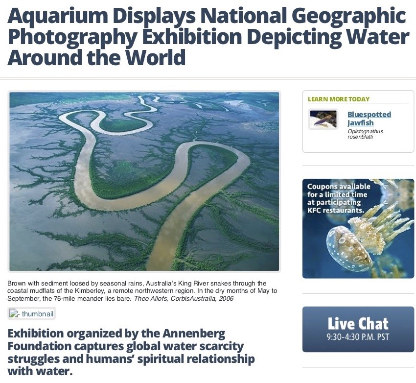 thumbnail_Aquarium of the Pacific Newsroom Aq…ition Depicting Water Around the World
